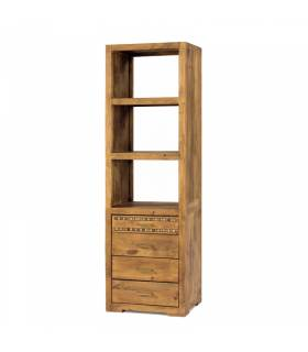 Librero estilo rustico coleccion modular studio