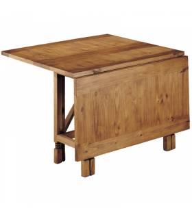 Mesa de comedor de estilo rustico plegable