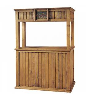 Mueble bar cantina de estilo rustico