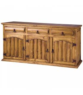 Aparador buffet de estilo rustico colección mueble mejicano