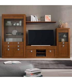 Liberería de estilo moderno, realizada con madera de pino macizo. Incluye los muebles que aparecen en imágen