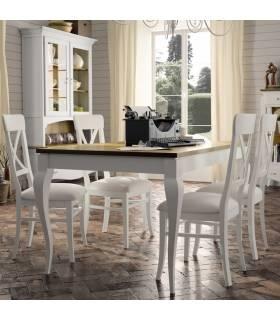 Mesa de comedor de estilo clásico. Colección Mediterráneo