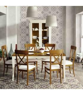 Mesa de comedor de estilo clásico. Colección fontana