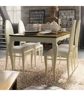 Mesa de comedor de estilo clásico,  colección mediterráneo