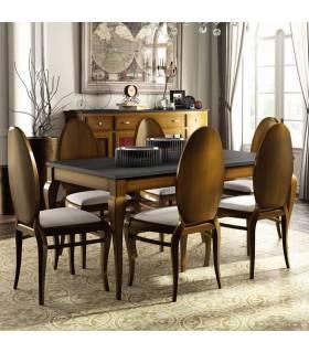 Mesa de comedor de estilo clásico colección mediterráneo.