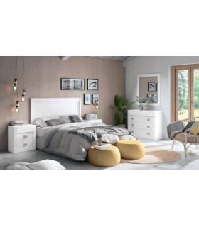 Dormitorio blanco de pino