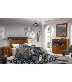 Composición dormitorio de pino