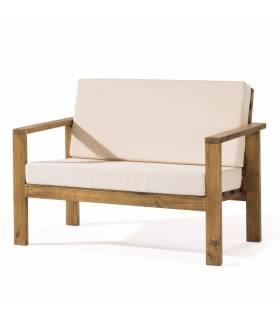 Sofá de estilo rustico