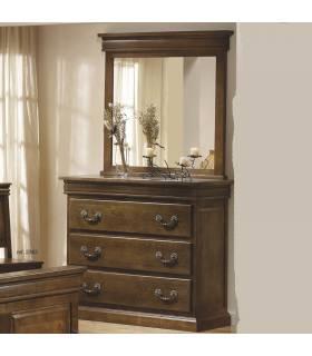 Cómoda de estilo clasico con espejo