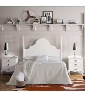 Composición de dormitorio de matrimonio, contiene: Cabecero, y las dos mesitas