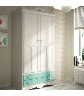 Armario con dos puertas y un cajón de estilo clásico