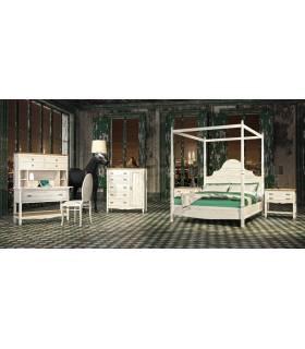 Conjunto de dormitorio de madera.