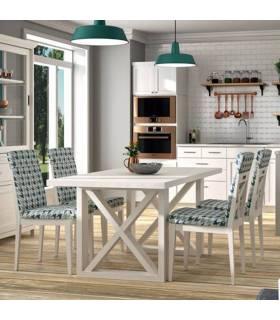 Mesa de comedor alargada de madera