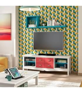 Mesa de tv de estilo clásico colección amberes. Mesa de madera para la tv del salón