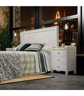 Conjunto de dormitorio de estilo clásico diseñado en madera