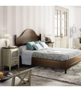 Conjunto de dormitorio de madera clásico