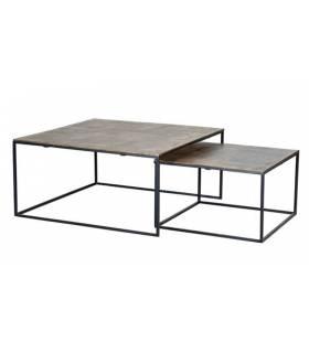 Set de 2 mesas de nido de estilo vintage
