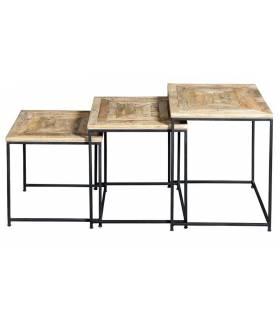 Set de tres mesas de nido de estilo vintage