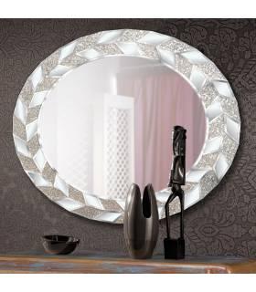 espejo vintage con marco de cristal