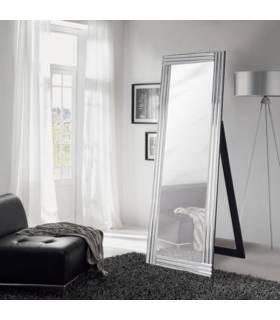 espejo de pie con marco de cristal