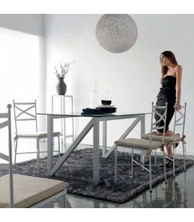 Silla de forja para comedor modelo Mónaco