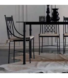 Silla de forja elegante modelo Marsella