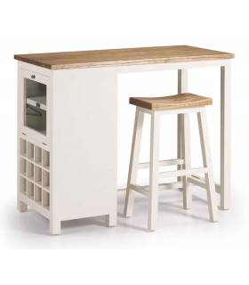 MUEBLE BAR ESTILO COLONIAL COLECCION NEW WHITE, REF: 14633S