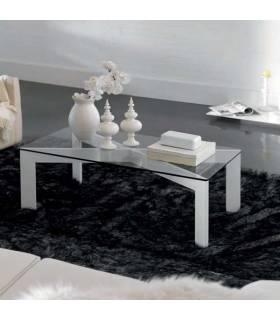 Mesa de centro moderna con tapa de cristal modelo París