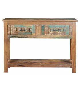 consola vintage de madera reciclada