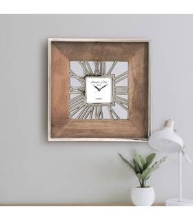 reloj cuadrado madera de mango