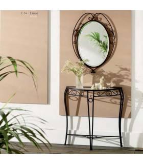 Recibidor con espejo de forja estilo clásico modelo Venecia