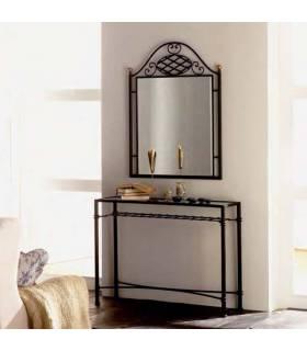 Recibidor de forja clásico con espejo