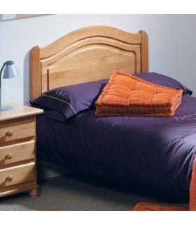 Cabecero clásico en color miel para cama de 90