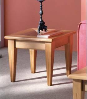 Mesa de rincón cuadrada color miel
