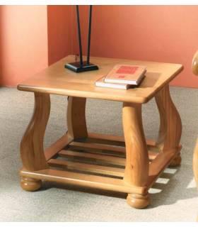 mesa de rincón color miel