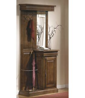 Recibidor de estilo clásico realizado en madera de roble macizo