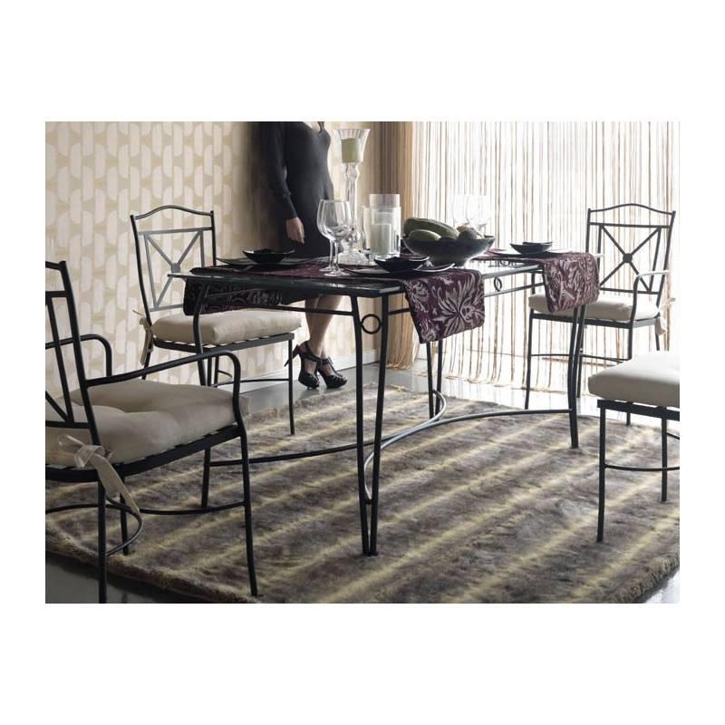 Mesa de forja con cristal económica y elegante varios ...