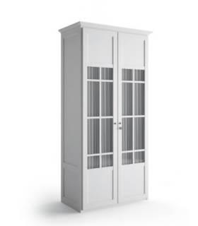 Armario de dos puertas con cristales