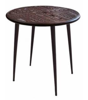 mesa de centro vintage redonda