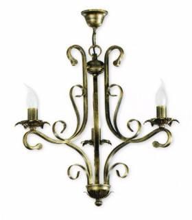 LAMPARA DE TECHO ESTILO COLONIAL, REF: TAIS L-2340/3