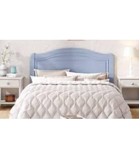 Cabecero clásico color azul decapado para cama de 135 cm