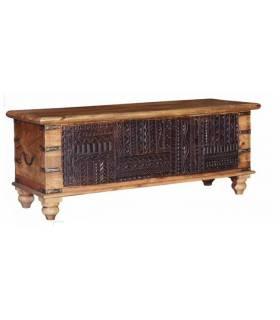 baúl vintage de madera de mango