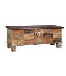 baúl vintage con acabado antique