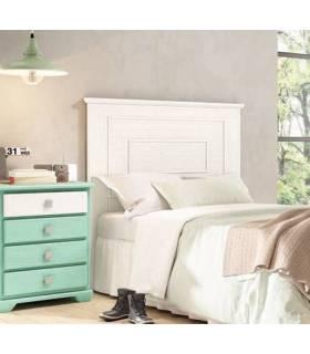 Cabecero cama 90 y 105 color blanco decapado