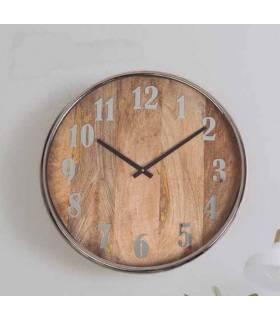 reloj redondo vintage de madera