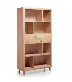 Estantería colonial 4 cajones en madera de teka, muebles de moycor.