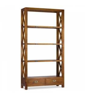 Estantería librería colonial madera de teka