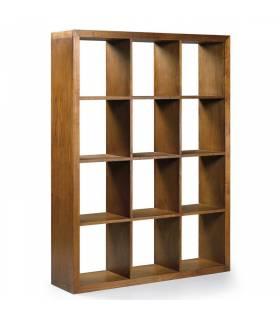 Estantería para libros madera color nogal de teca