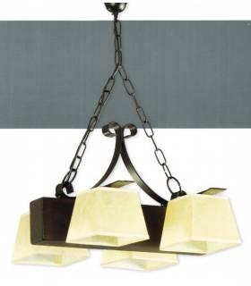 LAMPARA DE TECHO ESTILO RUSTICO, REF: BREC L-2321/4