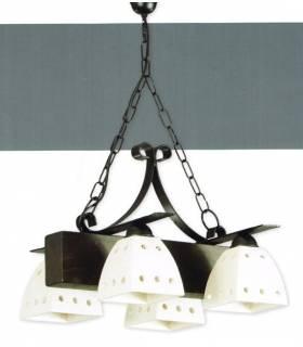 LAMPARA DE TECHO ESTILO RUSTICO, REF: BREC L-2322/4